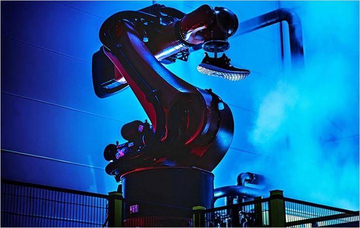 Adidas unveils futuristic production facility
