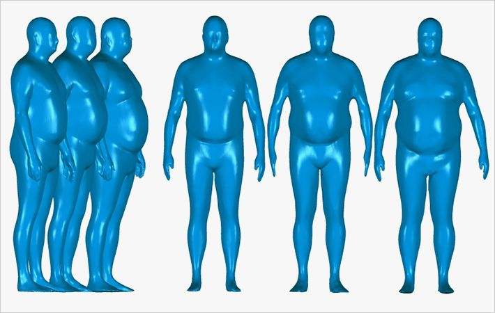 Hohenstein analyses body shapes of 'Plus Size Men'