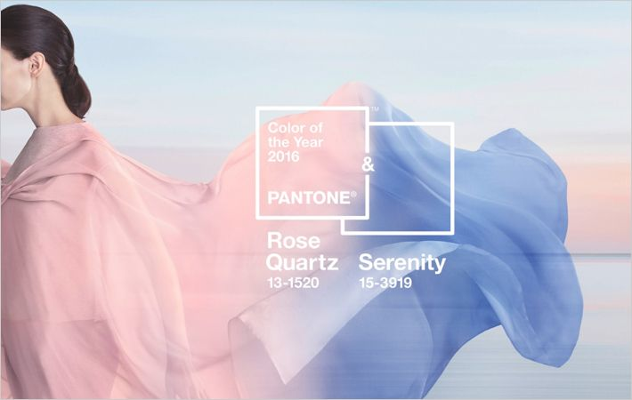 Serenity & Rose Quartz is Pantone colour of the year 2016