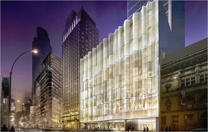 Nordstrom unveils façade of 363,000 sq. feet store