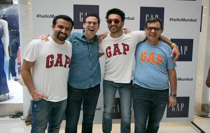 From left: Kulin Lalbhai, Oliver Kaye, Ranveer Singh, and J Suresh