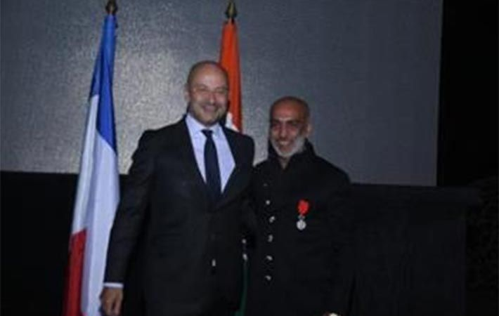 L-R: French Ambassador Francois Richier and Manish Arora