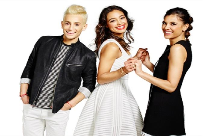 From left: Frankie Grande, Rachel Smith, and Lyndsey Rodrigues hosts of Amazon