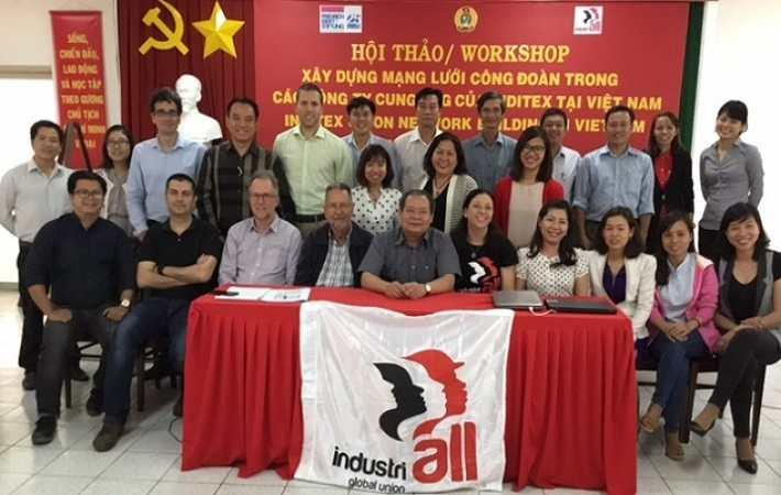 Participants at the Inditex network meeting in Vietnam. Courtesy: IndustriALL