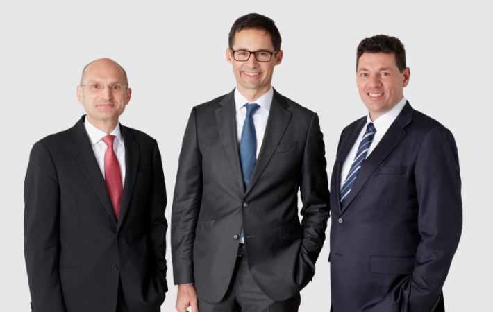 CFO Thomas Obendrauf, CEO Stefan Doboczky, CCO Robert van de Kerkhof