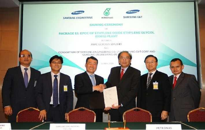 EPCC contract signing for LLDPE and EOEG plants