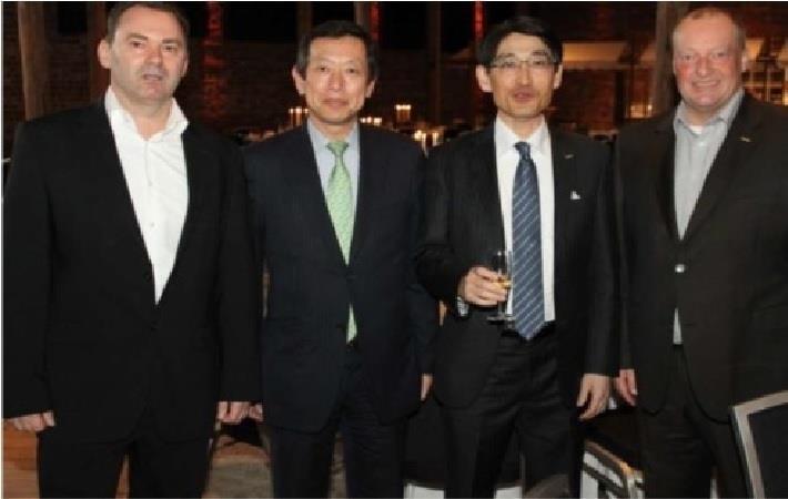 LtoR: Uwe Schmidt, Toshio Takanashi,  Akira Nishizawa, Robert Antons