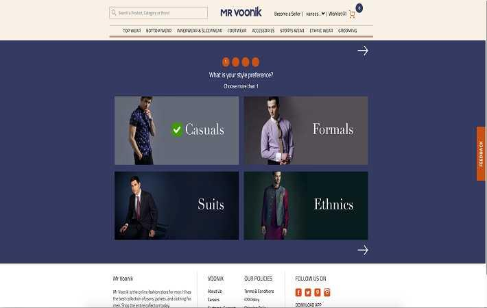 Voonik launches fashion app and website just for men