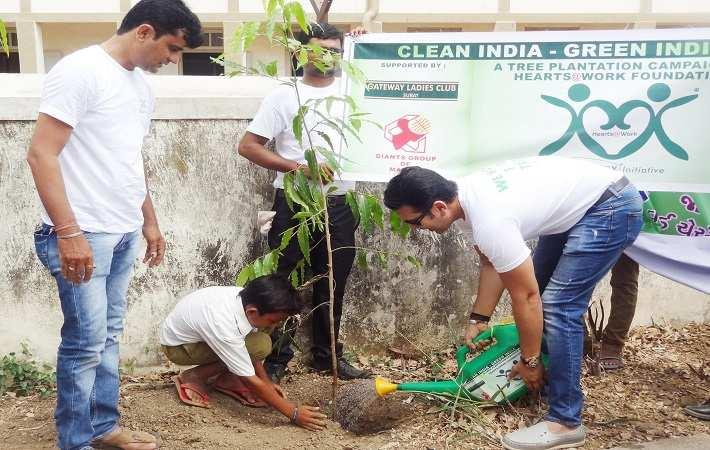 Zenitex CEO Viral Desai watering a plant during the campaign. Courtesy: Zenitex