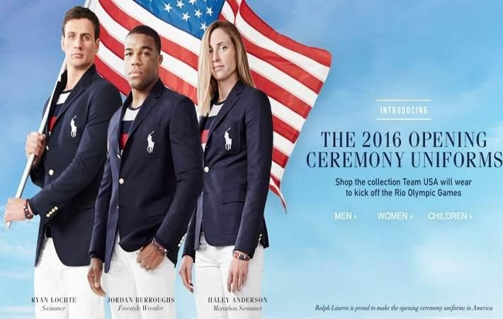 Radical uniform for US flag bearers at Rio Olympics