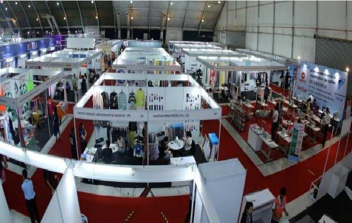 A view of Myanmar International Textile and Garment Industry Exhibition
