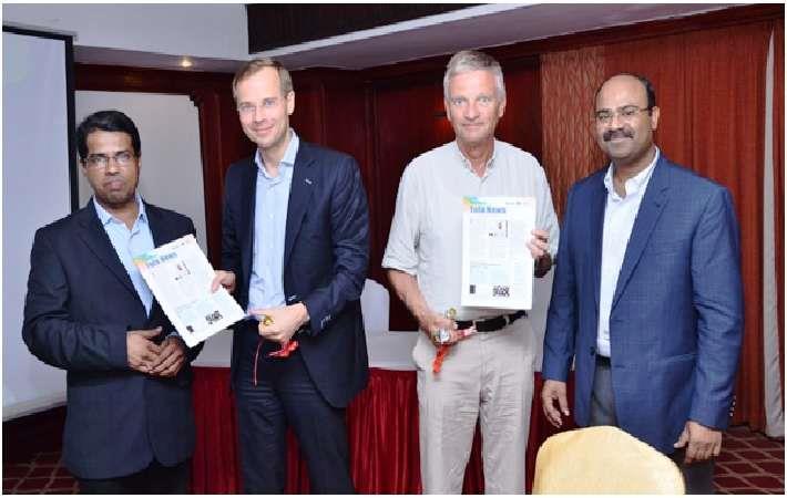 L-R: Swaminathan, Dr. WA Schumann, Ulrich Hambrecht, Shekhar Singh