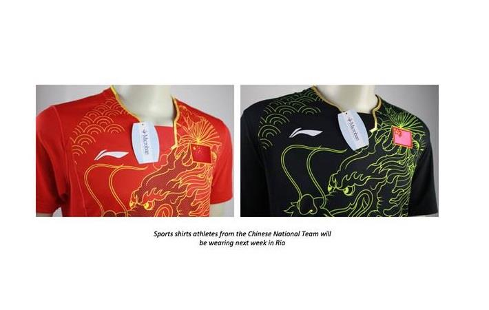 Chinese Olympic team apparel treated with ZPTech