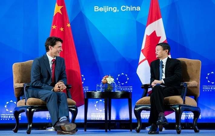 Canadian Prime Minister Justin Trudeau (left) with Alibab Group Executive Chairman Jack Ma. Courtesy: pm.gc.ca