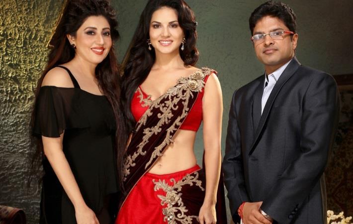 L-R: Archana Kochhar, Sunny Leone and Akash Khetan