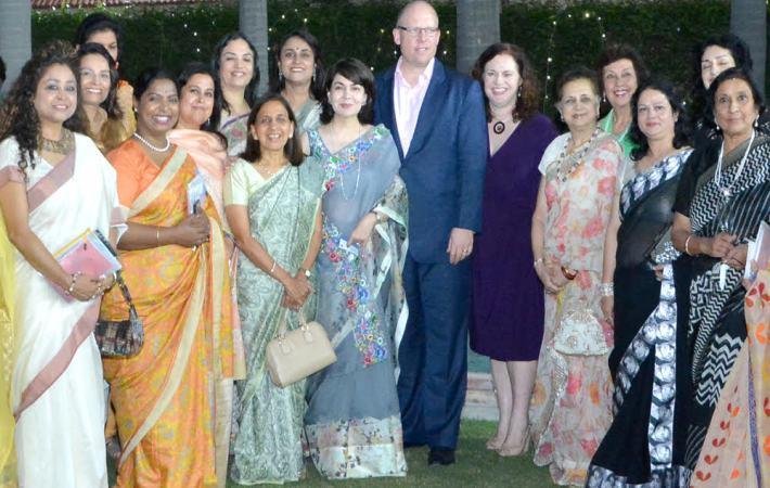 Some FLO delegates with New Zealand High Commissioner Grahame Morton
