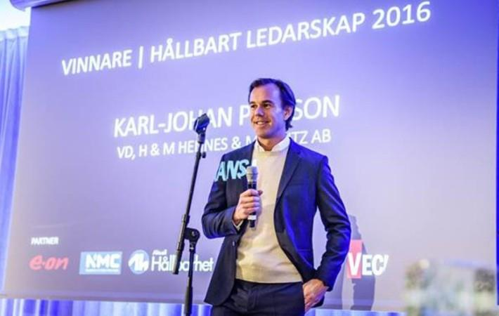H&M CEO awarded Sustainable Leadership Award