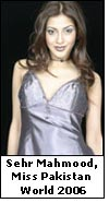 Sehr Mahmood, Miss Pakistan World 2006