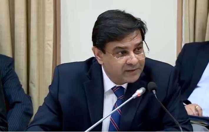 RBI Governor Urjit Patel addressing a press conference. Courtesy: Youtube