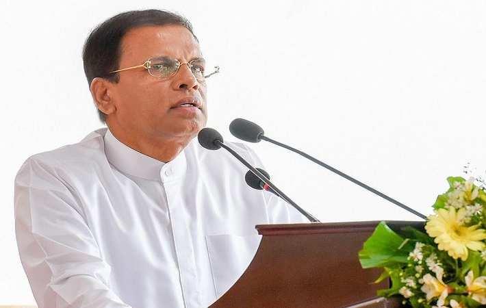 President Maithripala Sirisena; Courtesy: president.gov.lk