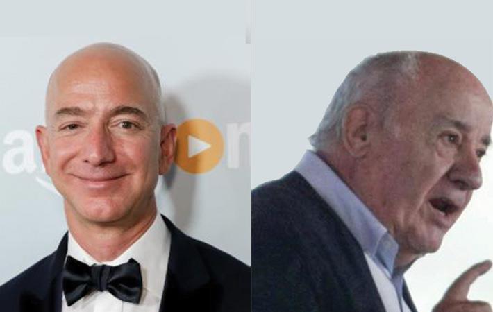 Jeff Bezos (L) and Amancio Ortega. Courtesy: Forbes