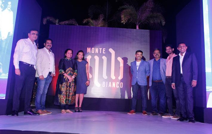 Harish Nayak, VP-Sales (2nd from left); Vijaylaxmi Poddar, MD (3rd left); Pooja Dhoot, Director (4th left); Shriniwas Maindarge, Head Designer (4th right) and others at the launch of new brand.