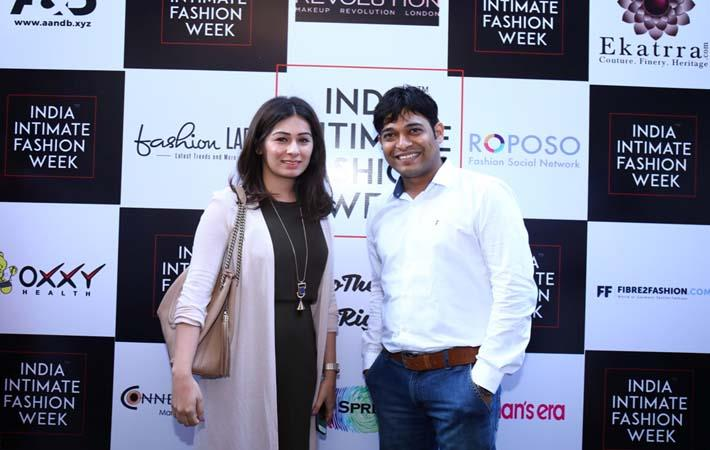 Designer Karishma Jumani with Niraj Jawanjal, founder and director of IIFW. Courtesy: IIFW