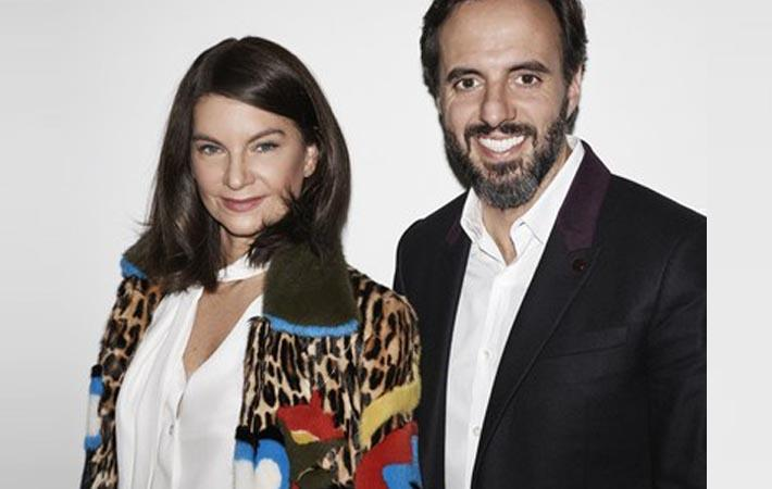 Dame Natalie Massenet with José Neves. Courtesy: Farfetch Group