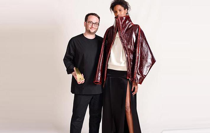 Zaid Affas (left) won the 2017/18 Woolmark Prize US womenswear. Courtesy: Woolmark Prize.