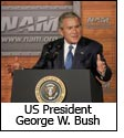 US Prez Bush talks about economy & jobs in Wisconsin
