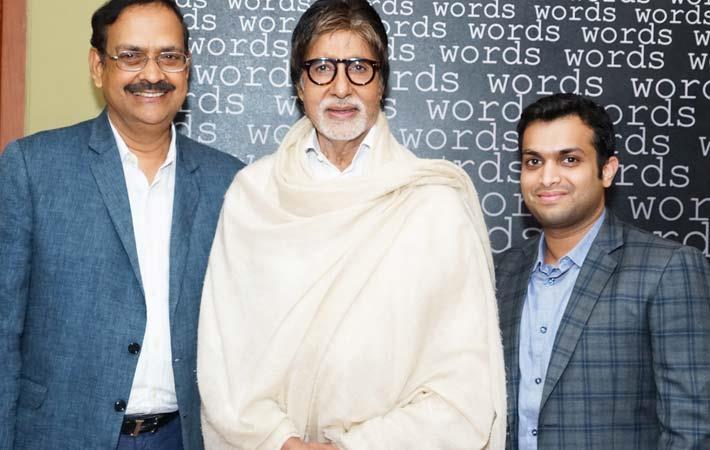 L-R: S Krishnamoorthy, MD, GBTL; Amitabh Bachchan; Rahul Agarwal, Director, GBTL. Courtesy: GBTL