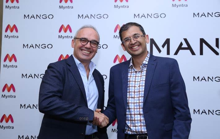 Mango Executive Vice President Daniel López (left) with Ananth Narayanan, CEO of Myntra & Jabong; Courtesy: Mango