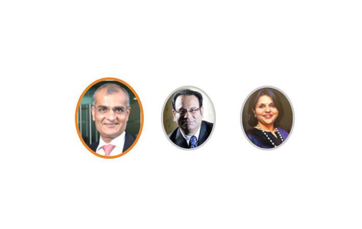 (L-R) Rashesh Shah, President; Sandip Somany, Sr Vice President; Sangita Reddy, Vice President