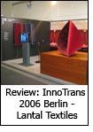 Review: InnoTrans 2006 Berlin -Lantal Textiles