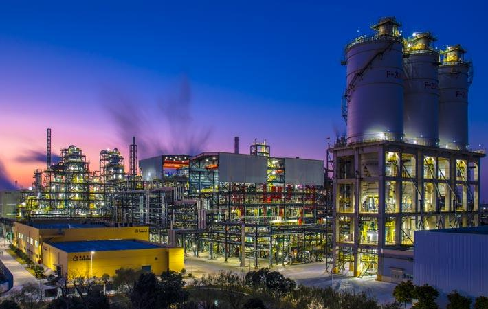 A night view of Jiaxing Petrochemical
