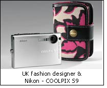 UK fashion designer & Nikon - COOLPIX S9