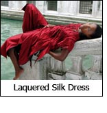 Laquered Silk Dress