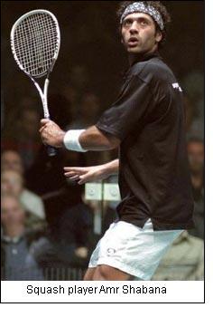 Squash player Amr Shabana