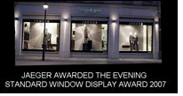 Jaeger bags Evening Standard Window Display Award 2007