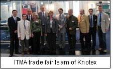 ITMA trade fair team of Knotex