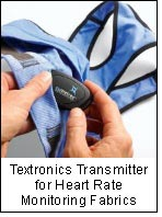 Textronics Transmitter for Heart Rate Monitoring Fabrics