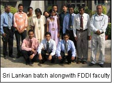 Sri Lankan batch alongwith FDDI faculty