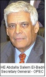 HE Abdalla Salem El-Badri Secretary General - OPEC