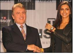 Deepika Padukone as Tissot brand ambassador