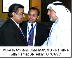 Mukesh Ambani, Chairman, MD - Reliance with Hamad Al-Terkait, GPCA VC