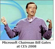 Microsoft Chairman Bill Gates at CES 2008