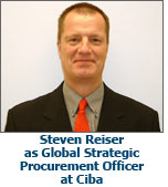 Steven Reiser as Global Strategic Procurement Officer at Ciba