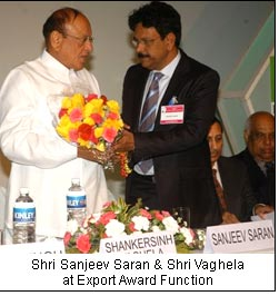 Shri Sanjeev Saran & Shri Vaghela at Export Award Function