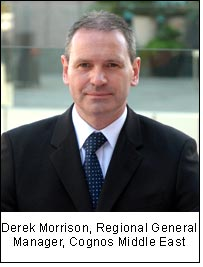Derek Morrison, Regional General Manager, Cognos Middle East
