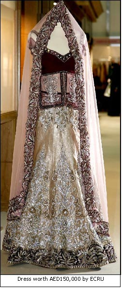Dress worth AED150,000 by ECRU